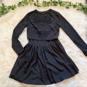 Keepsake The Label Black Lazer Cut Pocket Dress
